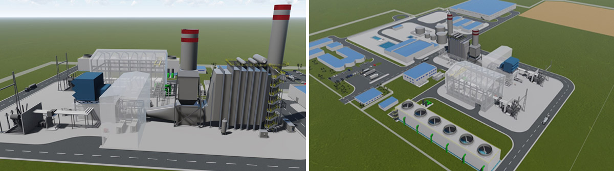 Visuals of the next 390 MW Atinkou power plant in Côte d'Ivoire